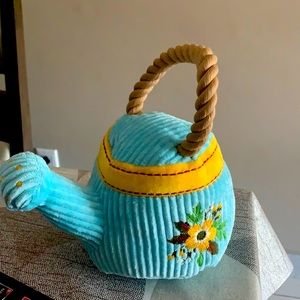 Watering can plush dog toy
